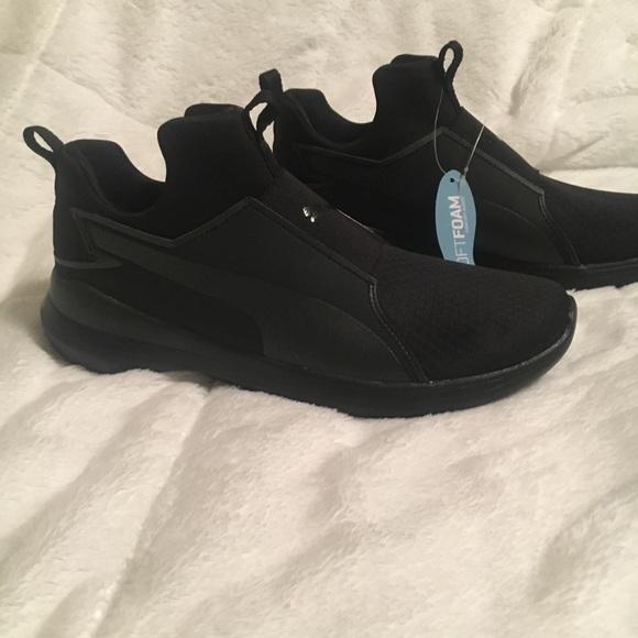 New Puma Rebel Mid Mesh Slip on athletic Shoes